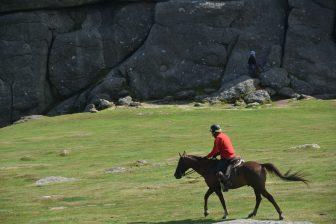 イングランド デヴォン州 ダートムーア国立公園 Haytor 騎手