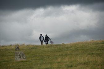 La scena minacciosa nel Dartmoor National Park
