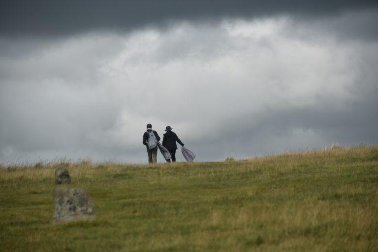 the threatening scene in Dartmoor National Park