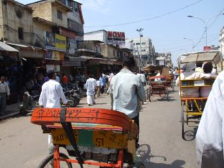 India, Delhi – rickshaw, Sept. 2006