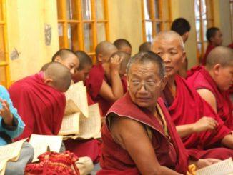 India, Dharamsala – red robe, Sept.2006