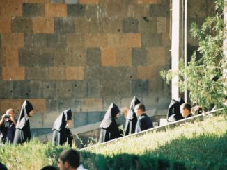 Armenia, Echmiadzin – clergymen, Autumn 2005