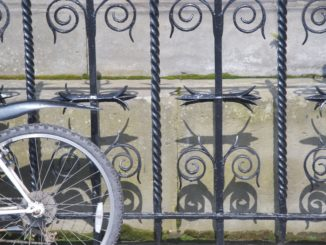 Scotland, Edinburgh – bicycle and fence, 2010