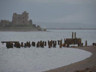Re Steve a Piel Island nel nord dell'Inghilterra