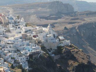 Greece, Santorini, Fira – town in nature, Aug. 2013