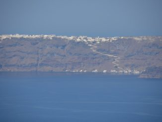 Greece, Santorini, Fira – sea, land and sky, Aug. 2013