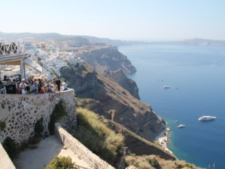 Greece, Santorini, Fira – lookout, Aug. 2013