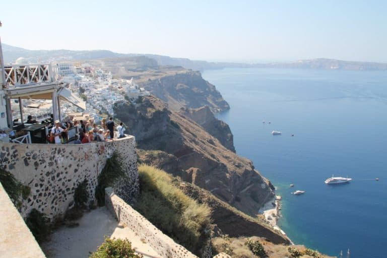 Greece, Santorini, Fira – lookout, Aug. 2013 (Santorini)