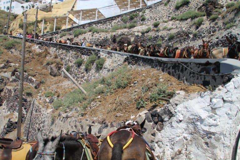 Greece, Santorini, Fira – queue, Aug. 2013 (Santorini)