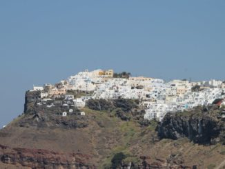 Greece, Santorini, Fira – town on cliff, Aug. 2013