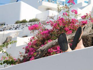 Greece, Santorini, Fira – feet, Aug. 2013