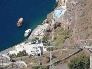 Greece, Santorini, Fira – cable car, Aug. 2013