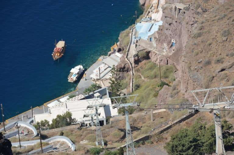 Greece, Santorini, Fira – cable car, Aug. 2013 (Santorini)