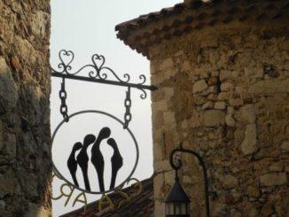 France, Eze – a sign, 2011