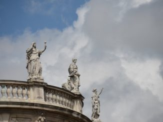 Germany, Munich – statues on top, May 2013