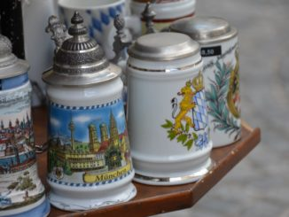 Germany, Munich – beer mugs, May 2013