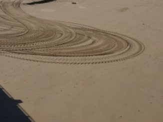 Spain, Getxo – pattern on sand, May 2014