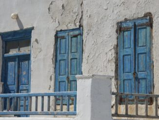 Greece, Mykonos – texture of wall, Sept.2013