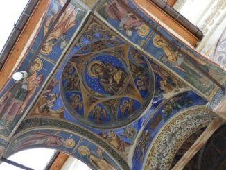 Romania, Horezu – ceiling, Apr.2014