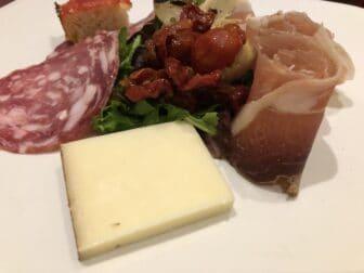 assorted salami and cheese at Tarantella, the Italian restaurant in London