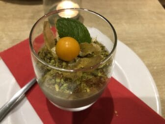 Pistachio Cream at Tarantella, the Italian restaurant in London