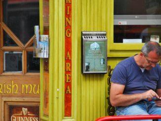 Ireland, Dublin – a man, July 2011