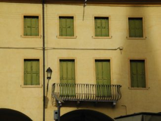 Italy, Padua – green windows 2011