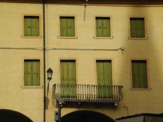 Italy, Padua – green windows 2011