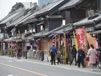 Fila di case a Kawagoe