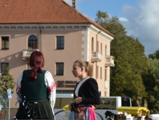Lithuania, Klaipeda – women in costume, Sept.2014