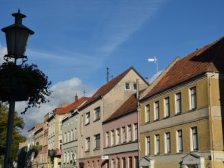 Lithuania, Klaipeda – row of houses, Sept.2014