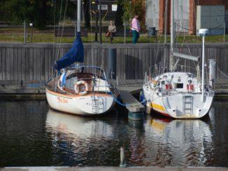 Lithuania, Klaipeda – two boats, Sept.2014
