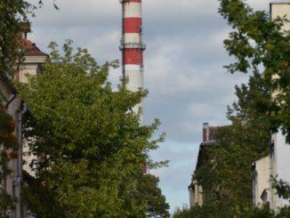 Lithuania, Klaipeda – chimney, Sept.2014