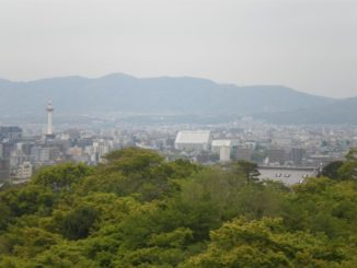 Japan, Kyoto – far mountains, Apr. 2013
