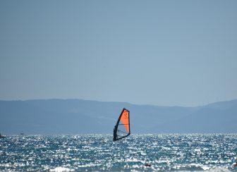 イタリア サルディニア スティンティーノ ラ・ペローザ 海 ウインドサーフィン