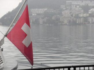Switzerland, Lugano – flag, Oct.2014