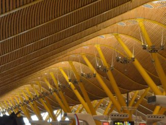 Iberia Airlines and stylish airport