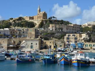 Crossing to Gozo by the ferry