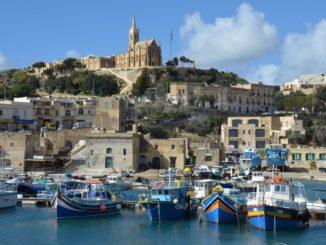 Malta, Gozo – view of the port, Feb. 2013