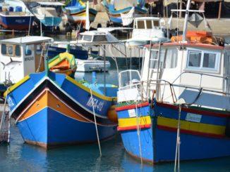 Malta, Gozo – boats, Feb. 2013