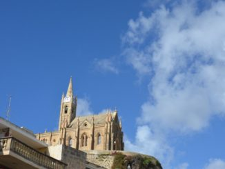 Malta, Gozo – church and sky, Feb. 2013