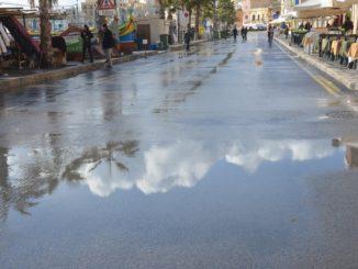 Malta, Marsaxlokk – clouds on the road, Feb. 2013