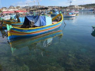 Malta, Marsaxlokk – view, Feb. 2013
