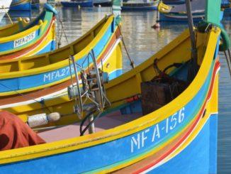 Marsaxlokk with pretty fishing boats