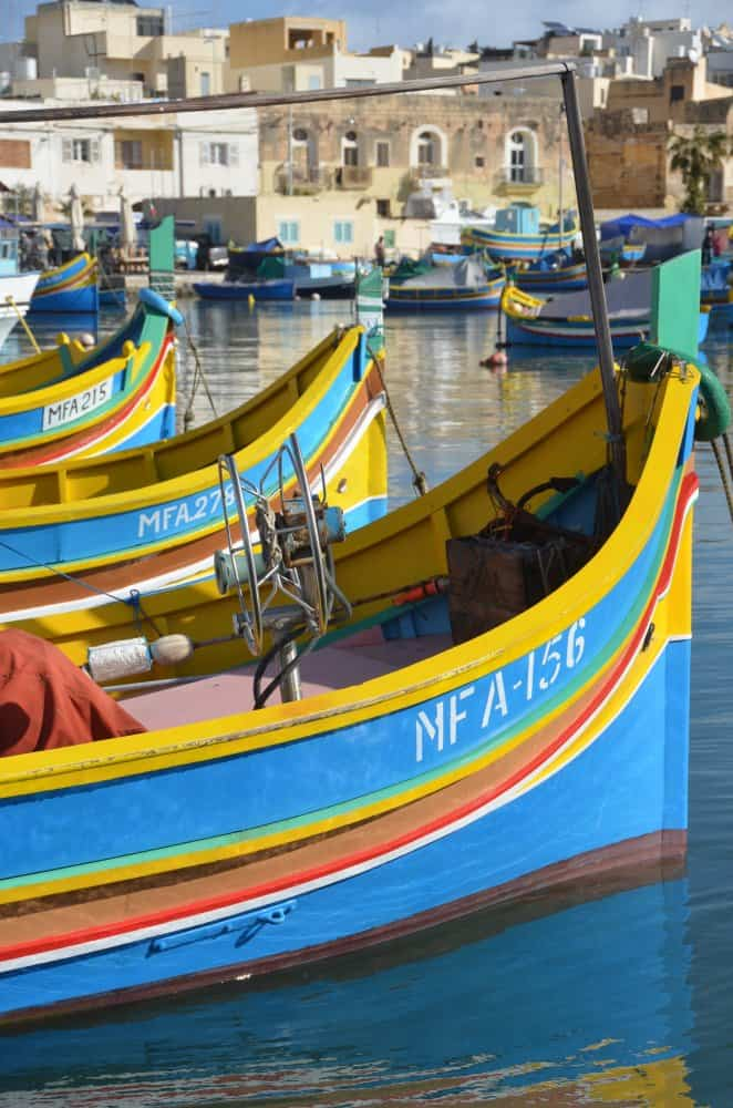 Marsaxlokk with pretty fishing boats