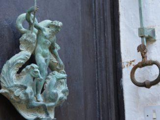 Malta, Mdina – door bell, Feb. 2013