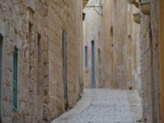 Mdina, pale skin colour town