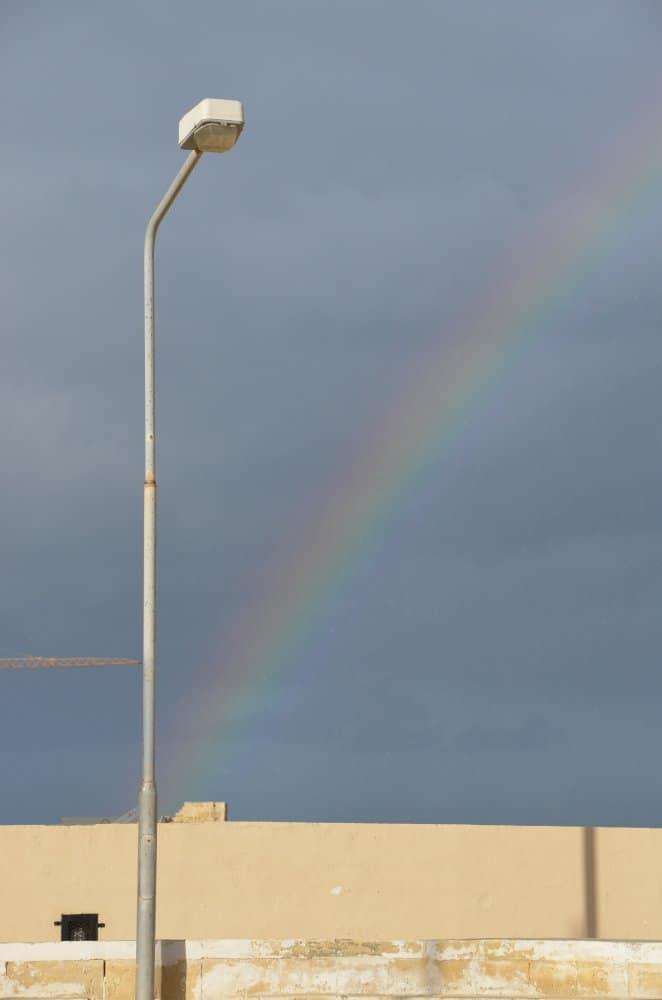 Malta, Valleta – rainbow, Feb.2013 (Valletta)