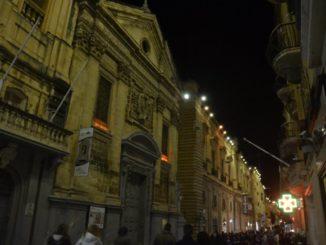 マルタ、ヴァレッタ-夜 2013年2月