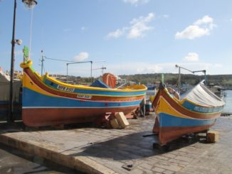 Malta, Marsaxlokk – typical colors, Feb. 2013